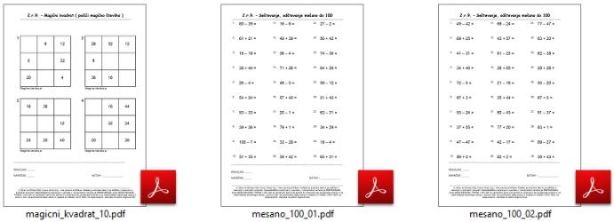 Matematika za 2 razred osnovne sole vaje